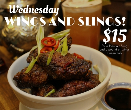 Wednesday wings and slings